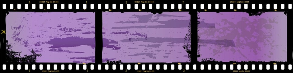 Wall Mural - frame of film, grungy photo frame,with free copy space,vector