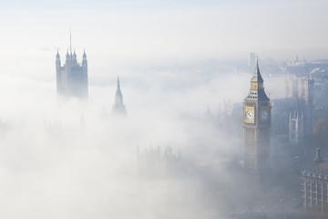 Heavy fog hits London Wall mural