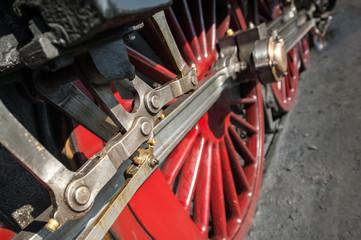 Wall Mural - vintage steam locomotive wheels - shallow d.o.f