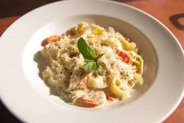 Pаsta with tomato and basil