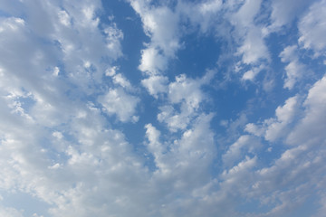 clouds in blue sky, abstract image cloudy background