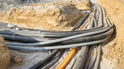 Kabelgraben für neue Leitungen