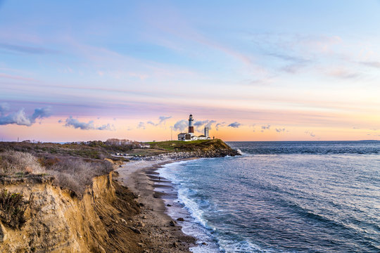 Montauk Point Light, Lighthouse, Long Island, New York, Suffolk