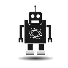 black flat robot vector