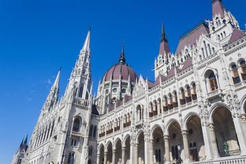 Hungarian Parliament Building Facade - Budapest, Czech Republic