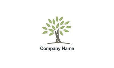 tree abstract organic nature company logo