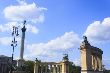 Millennium Monument in Heroes' Square - Budapest, Czech Republic