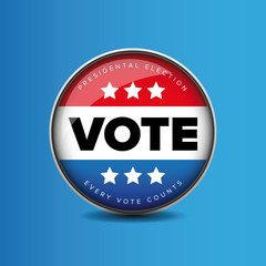 US Vote badge - Presidental election