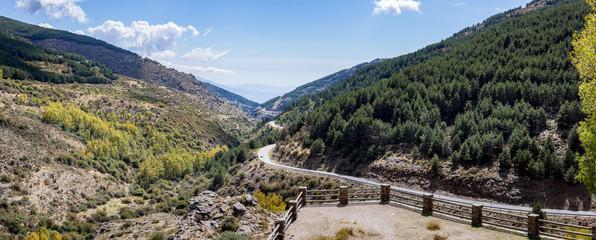 View south from Puerto de la Ragua in Spain