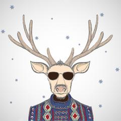 Deer in sweater