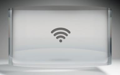 futuristic crystal display wifi on top