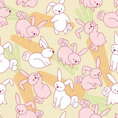 Rabbit pattern background. Seamless Pattern Background.