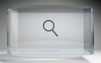 futuristic crystal display search engine