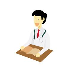 Medical doctor Student vector illustration
