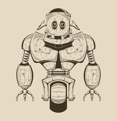 It is an image of cartoon iron robot.