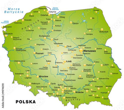 Polen Karte Umriss.Karte Von Polen Stockfotos Und Lizenzfreie Vektoren Auf