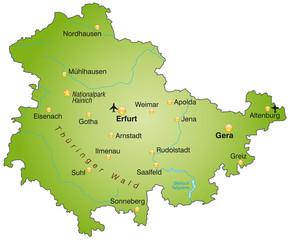 Karte von Thueringen