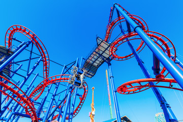 Achterbahn Thunderbolt in Coney Island, Brooklyn, New York CIty