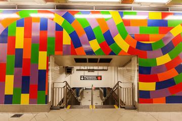 Subway Bahnhof in New York City