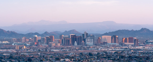 Phoenix Arizona Skyline Panorama Wall mural
