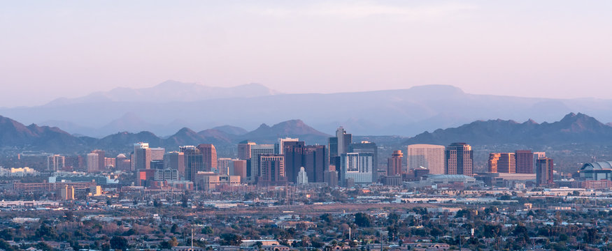 Phoenix Arizona Skyline Panorama