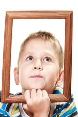Little funny boy child portrait