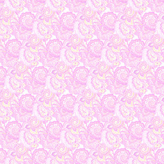 Endless ornamental Indian background with muted magenta design