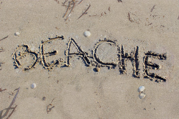 Beache written on the Sand
