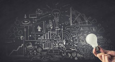 Idea for business plan. Concept image