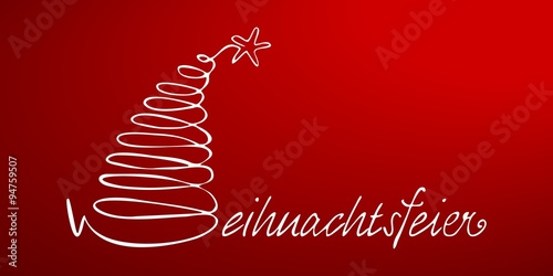 weihnachtsfeier plakat schriftzug flyer berschrift rot. Black Bedroom Furniture Sets. Home Design Ideas