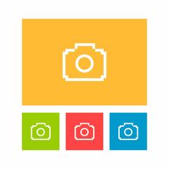 Camera Pixel Icon Logo