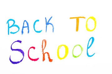Colorful text Back to school, childhood conception