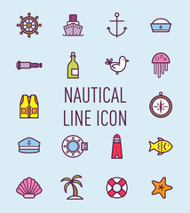 set of nautical icon