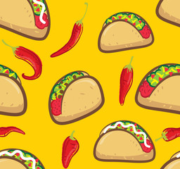 taco with chili background