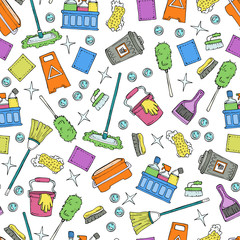 Pattern on the theme of cleaning services company