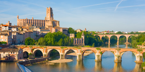 Albi in a summer evening