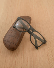 spectacle-case and glasses