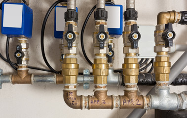 Pipes, Joints and Valves in a Boiler Room