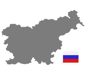mappa slovenia su sfondo bianco