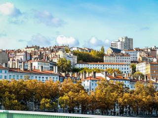 Panorama de Lyon Croix-Rousse en automne