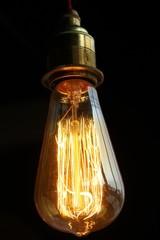 Vintage illuminated light bulb