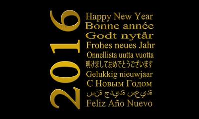 2016-frohes neues jahr in vielen Sprachen