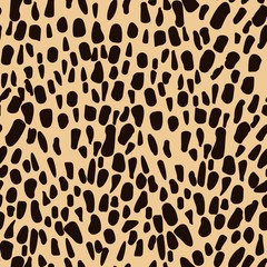 Leopard animal seamless skin - vector