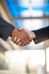 business Handshake,blurry background