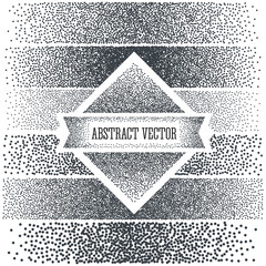 Halftone Background with  Dots. Dotwork Engraving Pattern Background. Vector Illustration