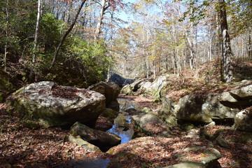 Boulders in Cane Creek Alabama