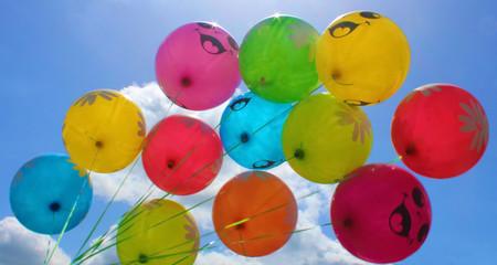 balloons blue sky