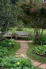 way to chair on garden