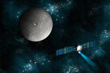 Wall Mural - The Dawn spacecraft investigates Ceres -Elements of this image furnished by NASA.