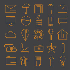 line craft web icons set for business